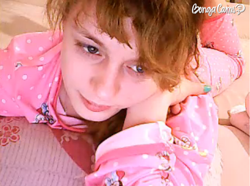 Teen Latina Does Sex Chat In Pink Pajamas